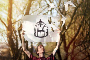 В честь весенних праздниковв Киеве отпускают на волю диких птиц