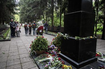Сотрудники Института им. Голды Меир почтили память солдат Второй мировой войны